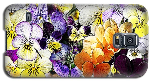Galaxy S5 Case featuring the photograph Pansy Posy by Erica Hanel