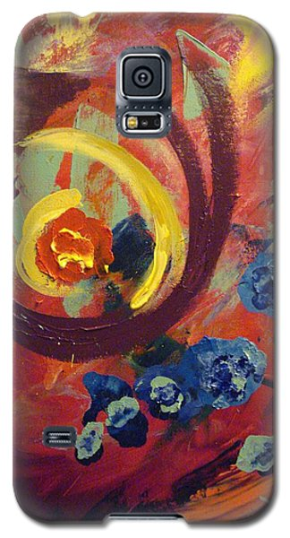 Galaxy S5 Case featuring the painting Pansymania by Donna Tuten