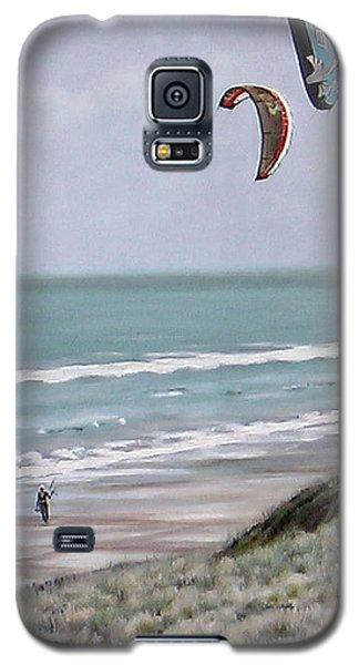 Galaxy S5 Case featuring the painting Papamoa Beach 090208 by Sylvia Kula