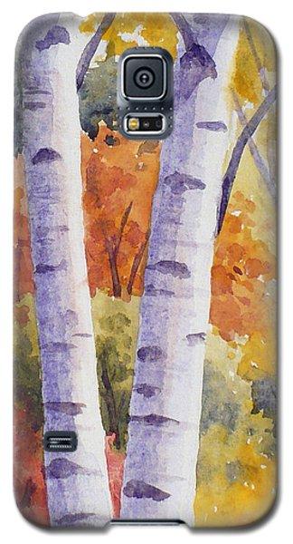 Paper Birches In Autumn Galaxy S5 Case