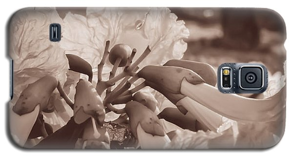 Paper Flowers - Sepia  Galaxy S5 Case