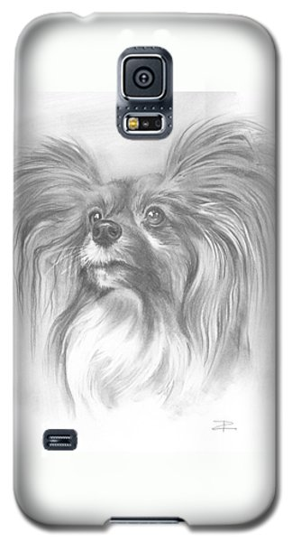 Galaxy S5 Case featuring the drawing Papillon by Paul Davenport