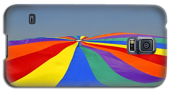Galaxy S5 Case featuring the photograph Parachute Of Many Colors by Verana Stark