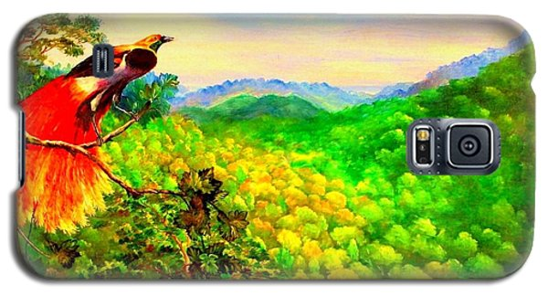 Paradise Bird Of Papua Galaxy S5 Case