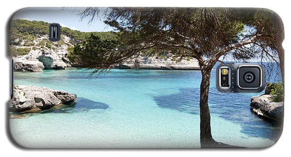 Paradise In Minorca Is Called Cala Mitjana Beach Where Sand Is Almost White And Sea Is A Deep Blue  Galaxy S5 Case by Pedro Cardona