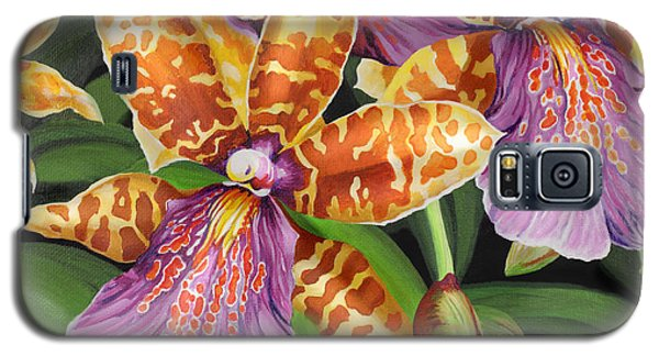 Galaxy S5 Case featuring the painting Paradise Orchid by Jane Girardot
