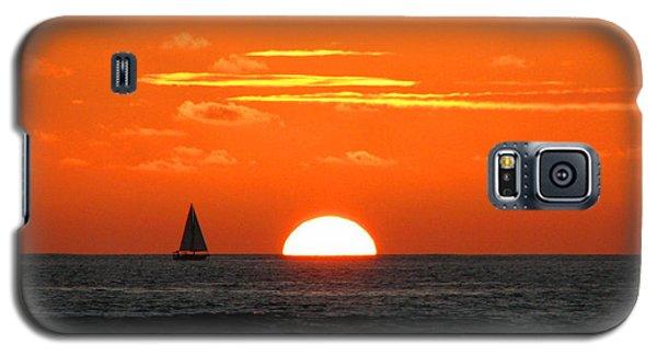 Paradise Sunset Sail Galaxy S5 Case by Kristine Merc