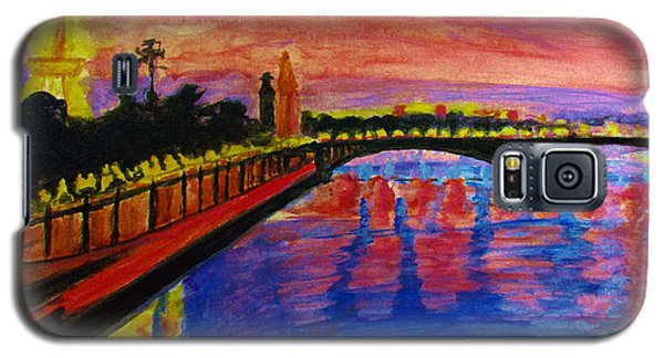 Paris City Of Lights At Dusk Galaxy S5 Case