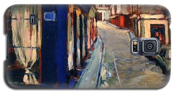 Galaxy S5 Case featuring the painting Paris Cityscape by Walter Casaravilla