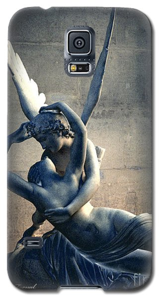 Paris Eros And Psyche Romantic Lovers - Paris In Love Eros And Psyche Louvre Sculpture  Galaxy S5 Case by Kathy Fornal