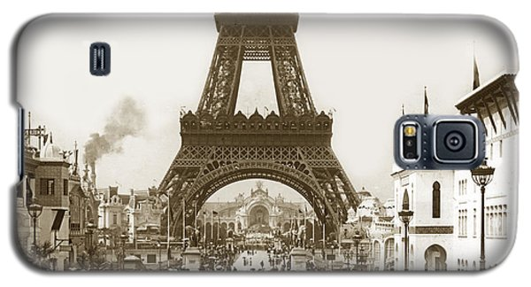 Galaxy S5 Case featuring the photograph Paris Exposition Eiffel Tower Paris France 1900  Historical Photos by California Views Mr Pat Hathaway Archives