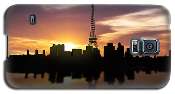 Paris France Sunset Skyline  Galaxy S5 Case by Aged Pixel