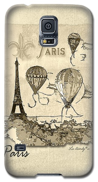 Paris In Sepia Galaxy S5 Case