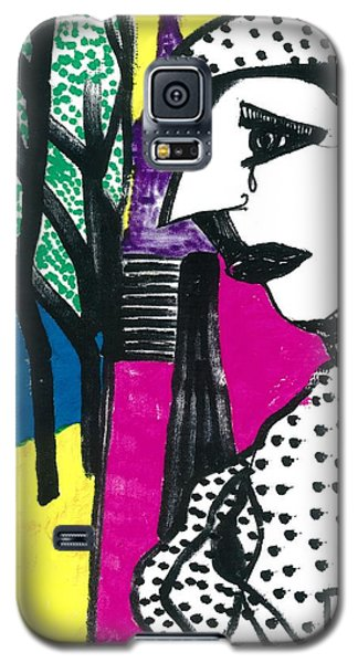Galaxy S5 Case featuring the drawing Paris Mime by Don Koester