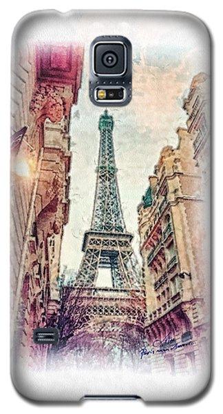 Paris Mon Amour Galaxy S5 Case by Mo T