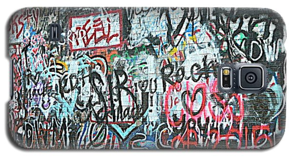 Galaxy S5 Case featuring the photograph Paris Mountain Graffiti by Kathy Barney
