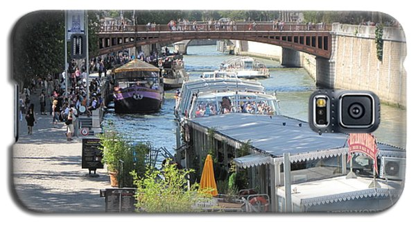 Galaxy S5 Case featuring the photograph Paris - Seine Scene by HEVi FineArt