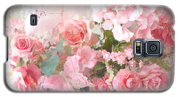 Paris Shabby Chic Dreamy Pink Peach Impressionistic Romantic Cottage Chic Paris Flower Photography Galaxy S5 Case