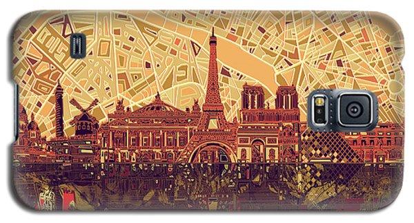Paris Skyline Abstract Sepia Galaxy S5 Case