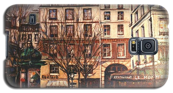 Galaxy S5 Case featuring the painting Paris by Walter Casaravilla