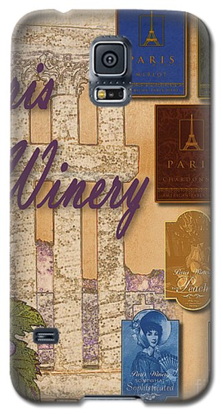 Paris Winery Labels Galaxy S5 Case