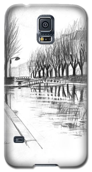 Paris Winter Canal Galaxy S5 Case