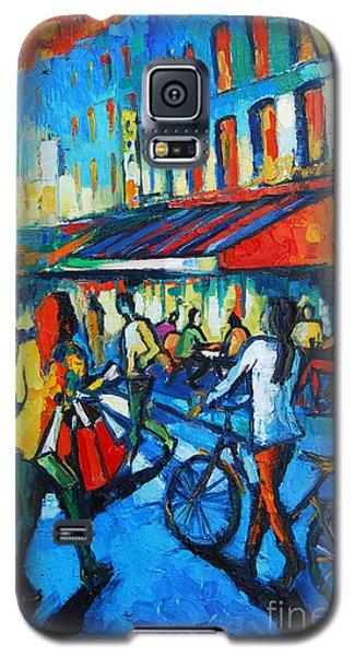 Parisian Cafe Galaxy S5 Case by Mona Edulesco