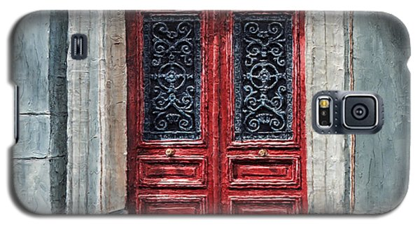 Galaxy S5 Case featuring the painting Parisian Door No. 12 by Joey Agbayani