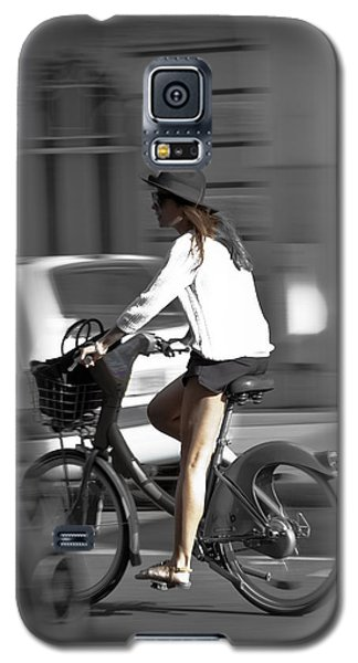 Parisian Girl Cyclist Galaxy S5 Case