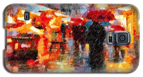 Parisian Rain Walk Abstract Realism Galaxy S5 Case