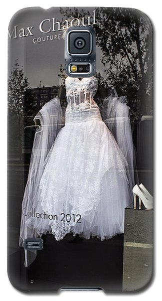 Galaxy S5 Case featuring the photograph Parisian Wedding Dress by Glenn DiPaola