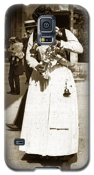 Galaxy S5 Case featuring the photograph Parisian Woman Lady Paris France 1900 Historical Photo by California Views Mr Pat Hathaway Archives