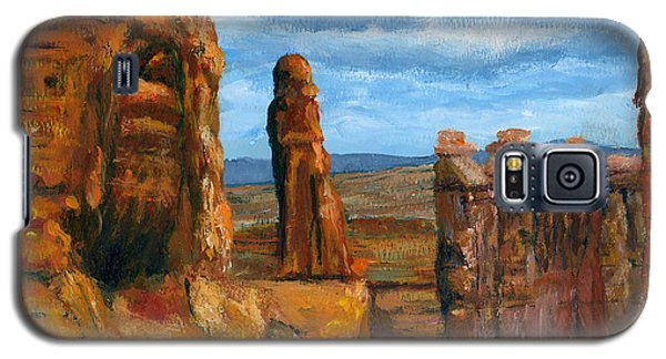 Galaxy S5 Case featuring the painting Park Avenue Arches National Park by Lenora  De Lude
