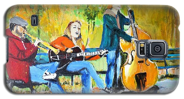 Galaxy S5 Case featuring the painting Park Serenade by Judy Kay
