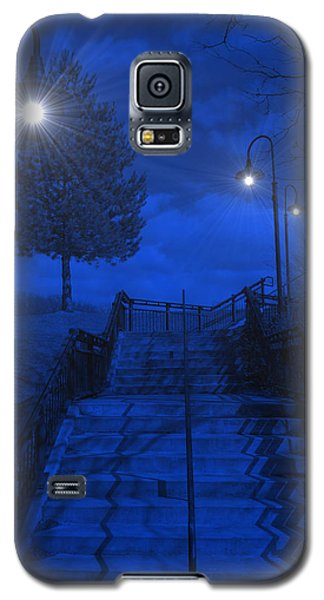 Galaxy S5 Case featuring the photograph Park Stairs by Michael Rucker