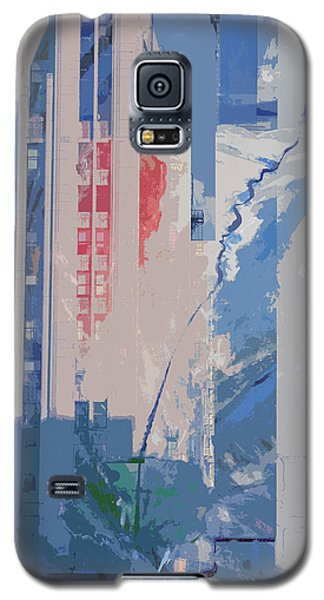 Galaxy S5 Case featuring the mixed media Parking Lot With Tree Spirit Escaping by John Fish