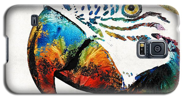 Parrot Galaxy S5 Case - Parrot Head Art By Sharon Cummings by Sharon Cummings