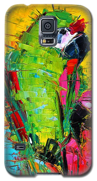 Parrot Galaxy S5 Case - Parrot Lovers by Mona Edulesco