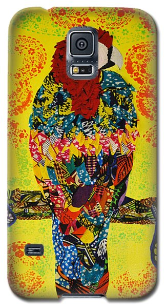 Galaxy S5 Case featuring the tapestry - textile Parrot Oshun by Apanaki Temitayo M