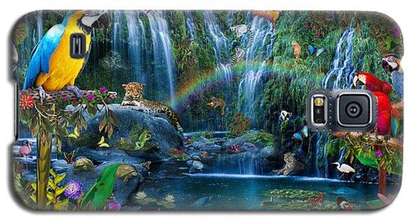 Macaw Galaxy S5 Case - Parrot Tropics by Alixandra Mullins