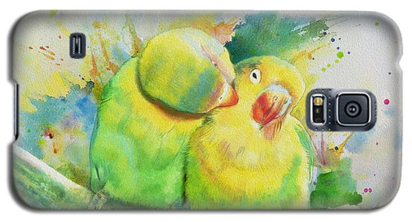 Parakeet Galaxy S5 Case - Parrots by Catf
