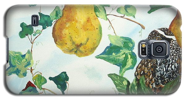 Galaxy S5 Case featuring the painting Partridge And  Pears  by Reina Resto