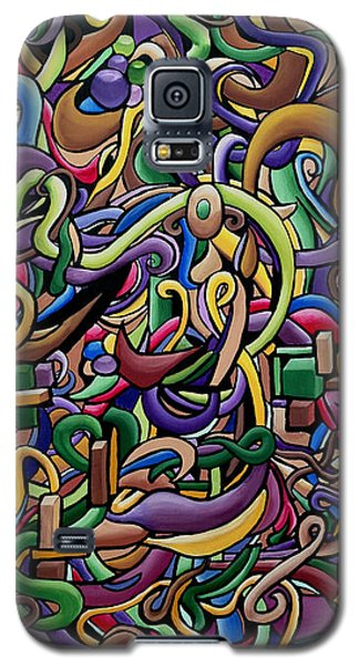Party Life 2 - Modern Abstract Painting - Ai P. Nilson Galaxy S5 Case