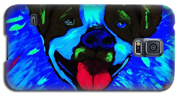 Galaxy S5 Case featuring the painting Party Pitty by Lisa Brandel