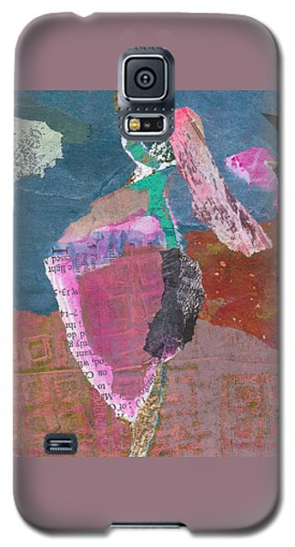 Galaxy S5 Case featuring the mixed media Pas De Deux by Catherine Redmayne