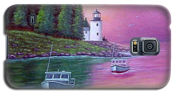 Galaxy S5 Case featuring the painting Passing The Light by Fran Brooks