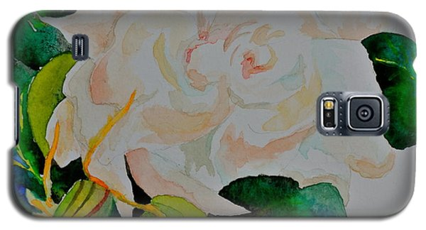 Galaxy S5 Case featuring the painting Passionate Gardenia by Beverley Harper Tinsley