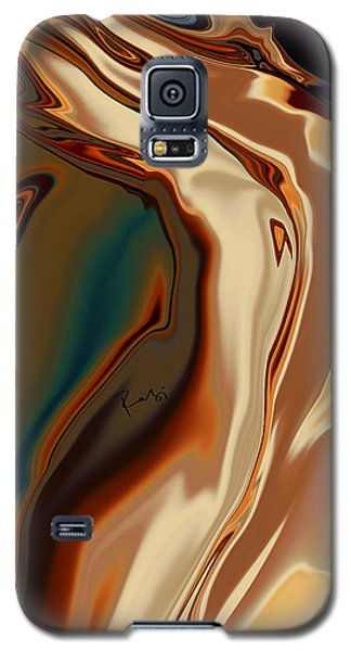Galaxy S5 Case featuring the digital art Passionate Kiss by Rabi Khan