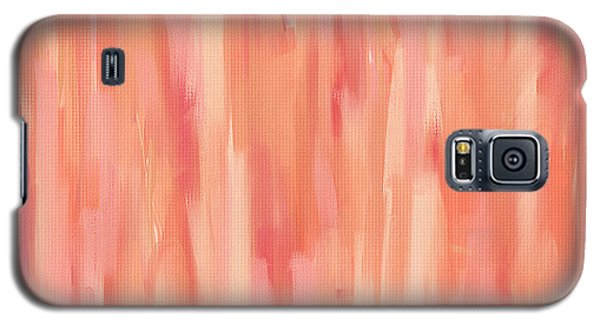 Passionate Peach Galaxy S5 Case by Lourry Legarde