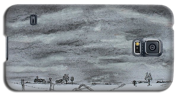 Galaxy S5 Case featuring the drawing Past Memory by Jack G  Brauer